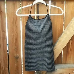 Fabletics workout tank top size xs gray black